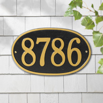 Mambo Oval Cast Metal Wall Plaque (Standard - 1 line)