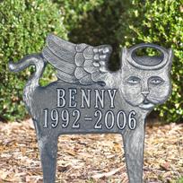 Pet Remembrance  / Angel-Cat Cast Metal Lawn Plaque