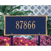 Colonial Cast Metal Lawn Plaque (Standard - 1 line)