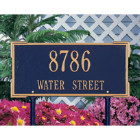Colonial Cast Metal Lawn  Plaque (Standard - 2 lines)