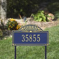 The Canterbury Cast Metal Lawn Plaque (Standard - 1 line)