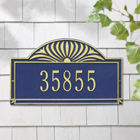 The Canterbury Cast Metal Wall Plaque (Standard - 1 line)