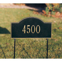 Two-sided Woodlands Cast Metal Lawn Plaque (Standard - 1 line)