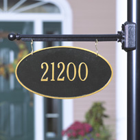 The Duchess Cast Metal Two-Sided Hanging Plaque (Standard - 1 line)