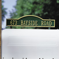 Kirkwood Cast Metal Two-sided Mailbox Address Plaque