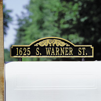 Manchester Cast Metal Two-sided Mailbox Address Plaque