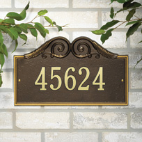 The Heights Cast Metal Wall Plaque (Standard - 1 line)