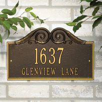 The Heights Cast Metal Wall Plaque (Standard - 2 lines)
