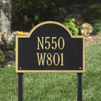 The Wisconsin Colby Cast Metal Lawn  Plaque (Standard - 2 lines)