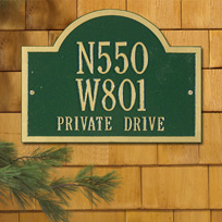 The Wisconsin Colby Cast Metal Wall Plaque (Standard - 3 lines)