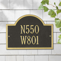 The Wisconsin Colby Cast Metal Wall Plaque (Standard - 2 lines)