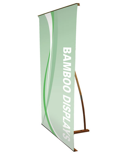 """Bamboo Deluxe L Type Banner Stand 31.5"""" x 79"""""""