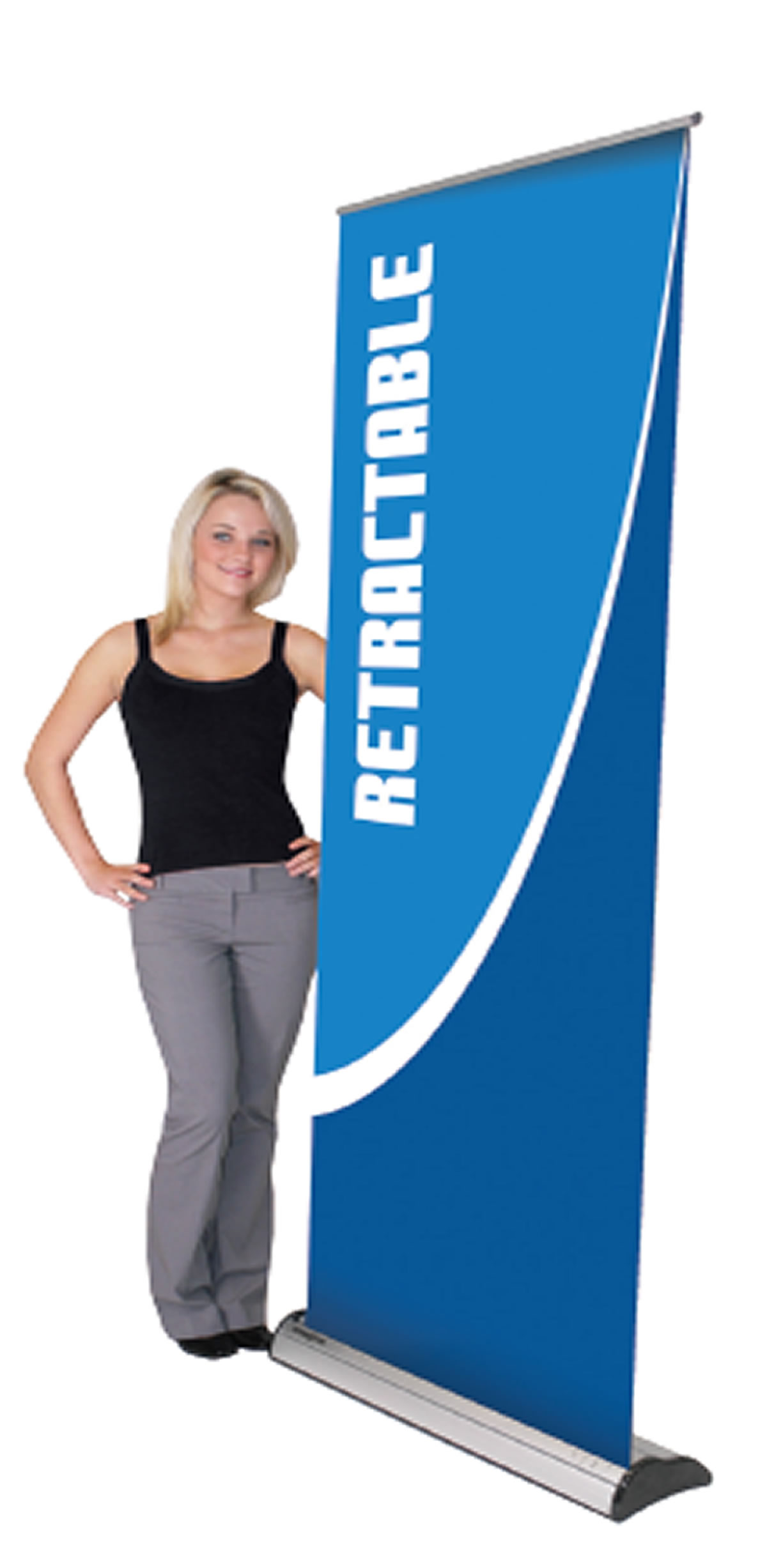 "Premium Retractable Banner Stand  31.5"" x 83.25"""
