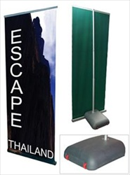 Rolling Outdoor Retractable Banner Stand 31.5