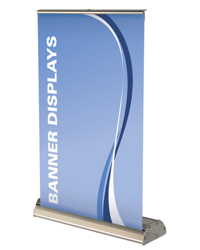 Deluxe Mini Table Top  Retractable Banner Stand 8.25