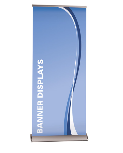 "The Slim Line Premium  Retractable Banner Stand  33.5"" x 80"""