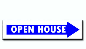 Open House - Blue Arrow Insert