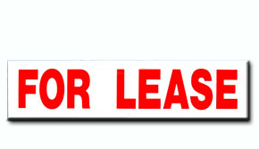 "For Lease Insert - 6"" x 24"""