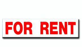 "For Rent Insert - 6"" x 24"""