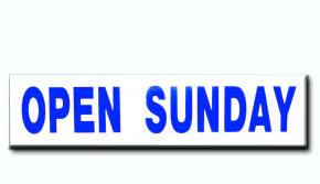Open Sunday - Blue Insert