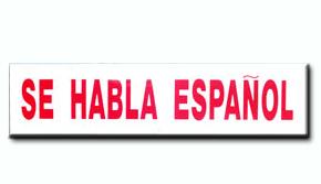 Se Habla Espanol Insert
