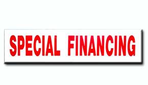 Special Financing Insert