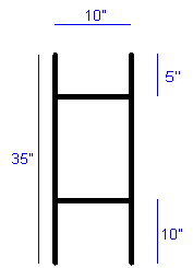 "Heavy Duty Stake 10"" x 35"" (For 8mm-10mm Coroplast)"