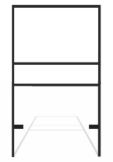 18 x 24 Real Estate Frames - Bottom Rider (Black)
