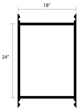 Metal Wall Mount Sign Frame 24