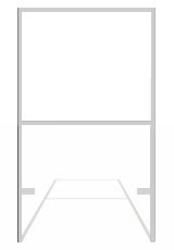 24 x 36 Real Estate Frames - No Rider (White)