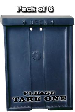 Black Brochure Box w/ Black Letters