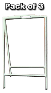 24x18 Angle Iron A Frame - 30in Leg (White)