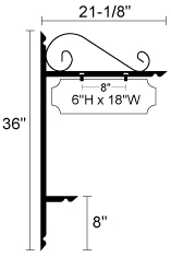 "36"" x 18  5/8"" Decorative L Stake Address Kit"