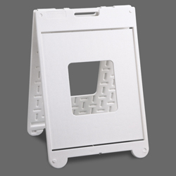 22x28 Walk-By II Sign Stand/A Frame (White)
