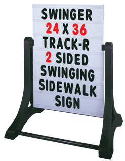 Swinger Standard Message Sidewalk Signs