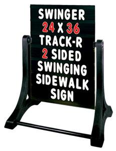 Swinger Sidewalk Signs Black