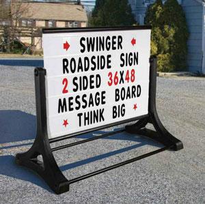 Roadside Sidewalk Sign Swinger
