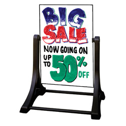 White Wet Erase A Frame Sidewalk Sign