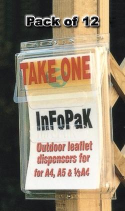 Infopack Outdoor Brochure Dispenser