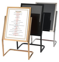 Double Pedestal Menu Stand