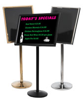 Single Pedestal Menu and Marker Stand