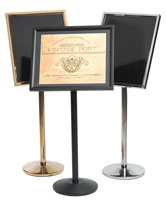 Single Pedestal Menu  Stand