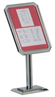 Single Pedestal Ornamental Menu Stand