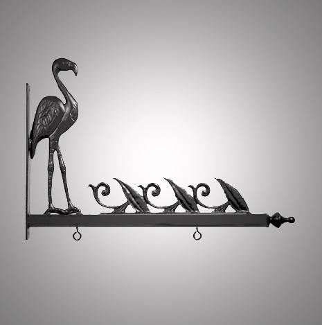 """24"""" Aluminum Designer Flamingo Sign Bracket"""