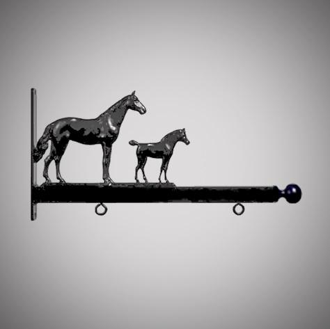 "24"" Aluminum Designer Horses Sign Bracket"