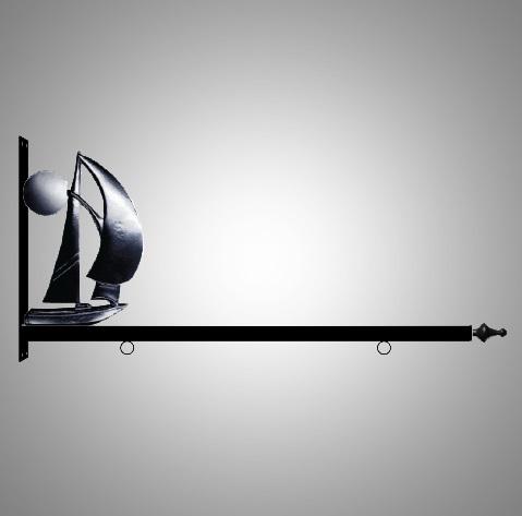 """36"""" Aluminum Designer Sailboat Sign Bracket"""