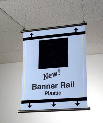 "Banner Rail - Plastic 8.5"""