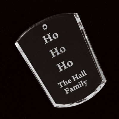 Engraved Crystal Votive Ornament