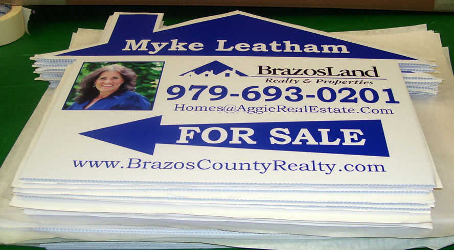 Plastic Signs - Real Estate Signs