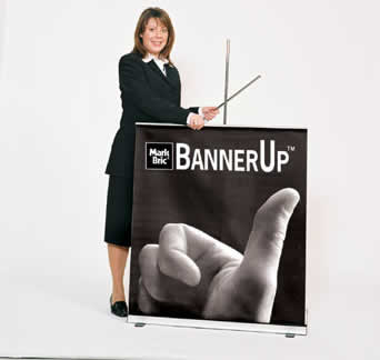 Display a Vinyl Banner with Retractable Banner Stands